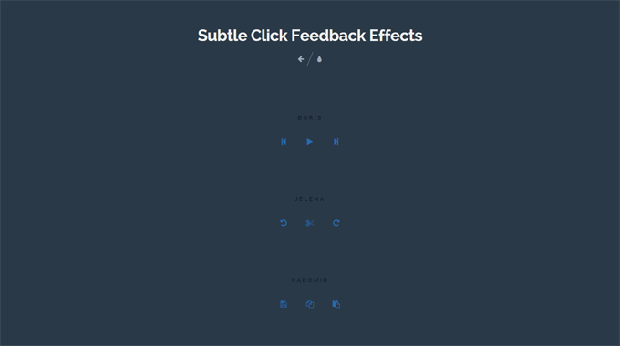 Subtle Click Feedback Effects